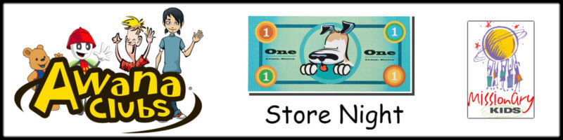 AWANA Store Night & Missionary Games Banner